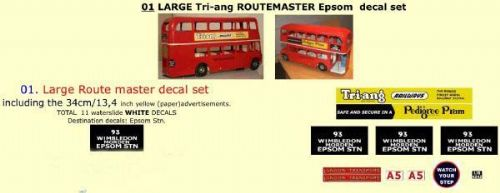 01 LARGE Tri-ang Triang ROUTEMASTER Bus